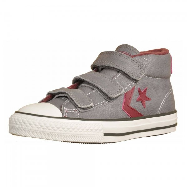 Converse Star Player Gris/Burdeos (talla 27 a 34)