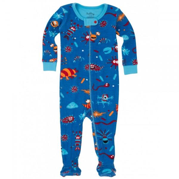 Pijama con pie criaturas microscópicas