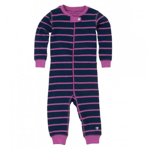 Pijama rayas azul y rosa sin pie