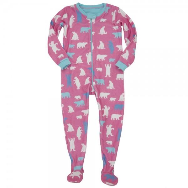 Pijama con pie de forro polar osos polares