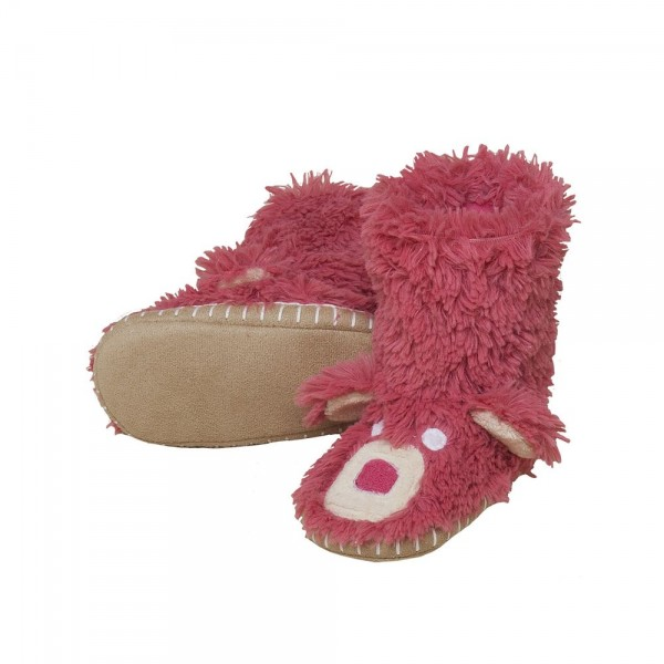 Pink Bear Slippers