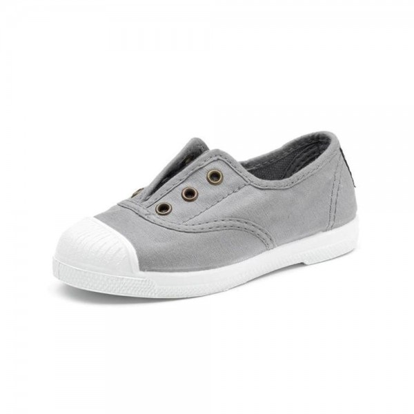 Zapatilla gris sin cordones Natural World
