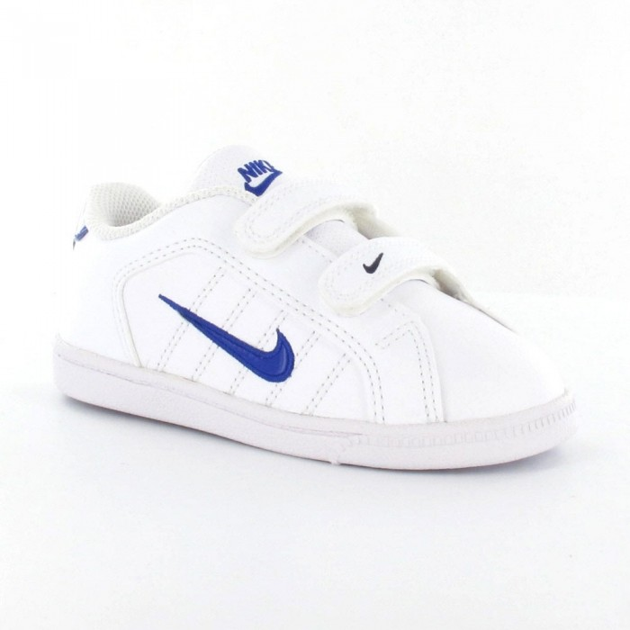 Nike Court Tradition 2 Plus (TDV) Blanco/Azul (talla 19.5 a 27)
