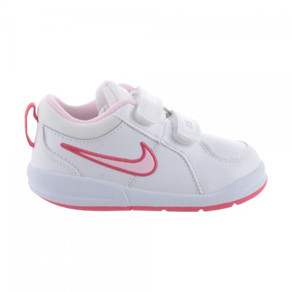 Nike Pico 4 (TDV) Blanco/Rosa (talla 19.5 a 27)