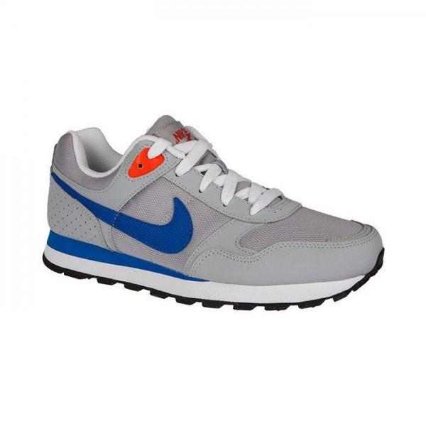 Nike MD Runner BG Gris/Azul (talla 35.5 a 40)