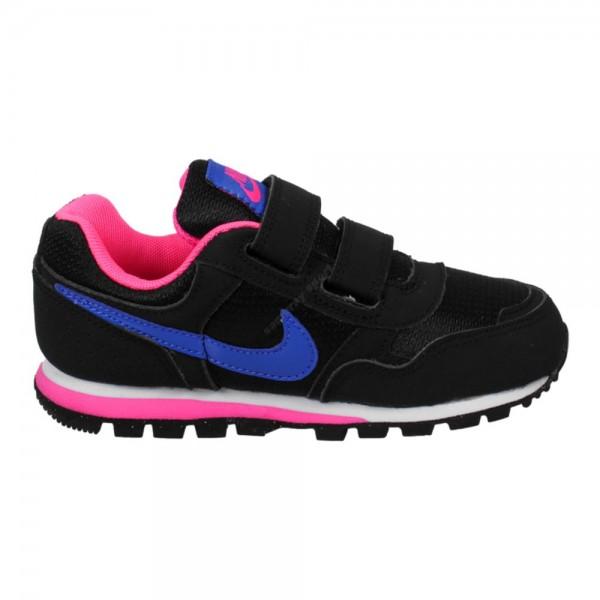 Nike MD Runner PSV Negro/Azul/Rosa (talla 28 a 35)