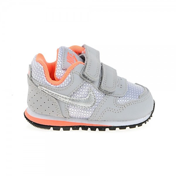 Nike MD Runner TDV Gris/Naranja (talla 19.5 a 27)