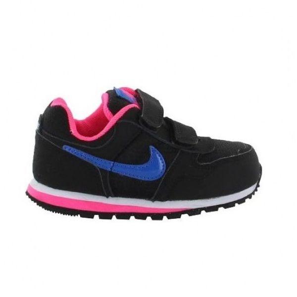 Nike MD Runner TDV Negro/Azul/Rosa (talla 19.5 a 27)