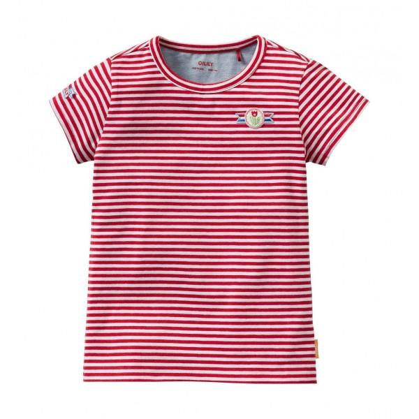 Camiseta rayas blanca/roja