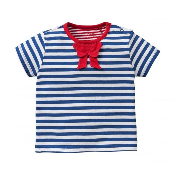 Camiseta marinera con cuello rojo