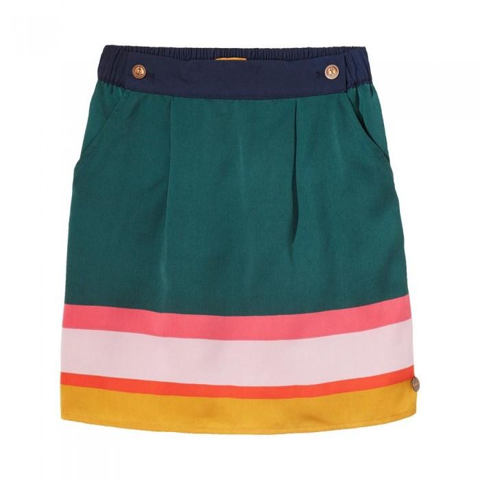 Falda de bloques de color