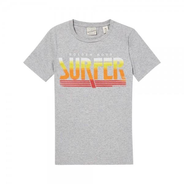 Camiseta de color gris jaspeado