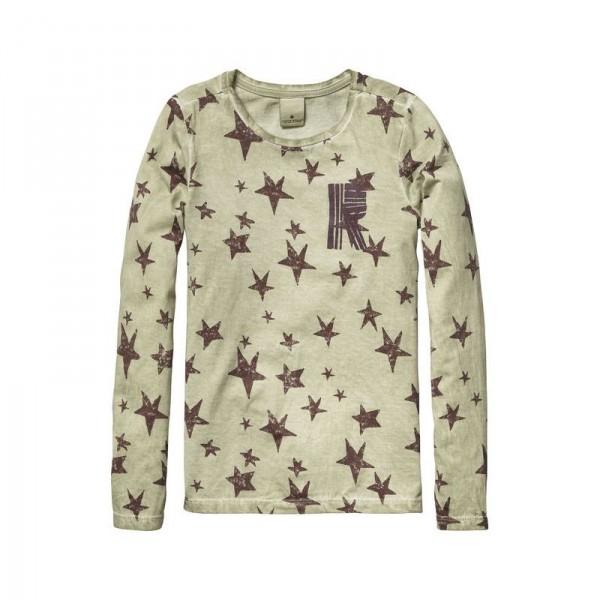 Camiseta de cuello redondo estrellas