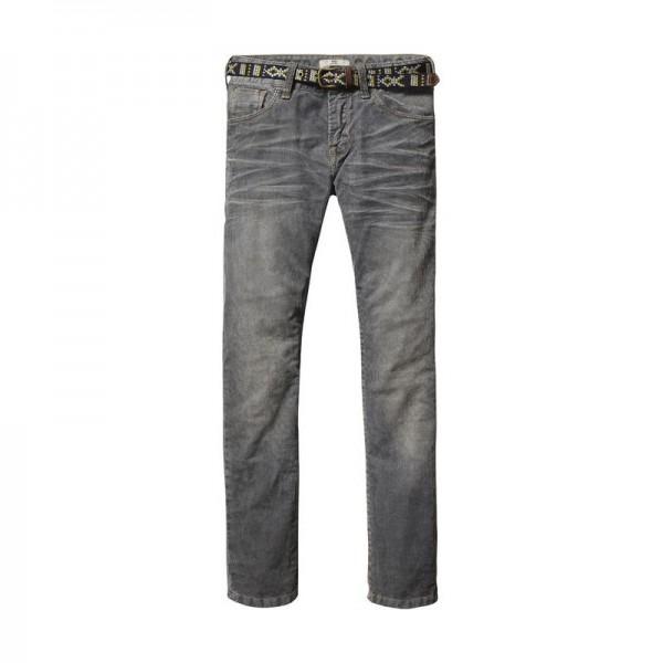 Pantalones de pana con cinturón