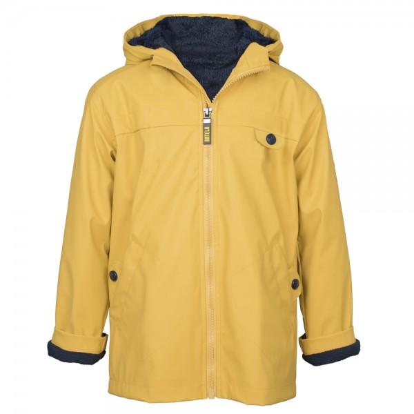 Chubasquero amarillo con forro polar