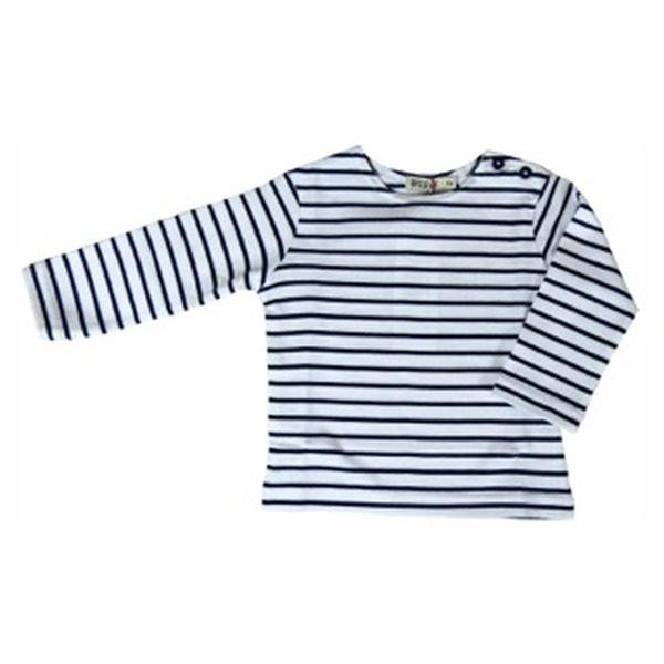 Camiseta marinera bebé Blanco/Marino