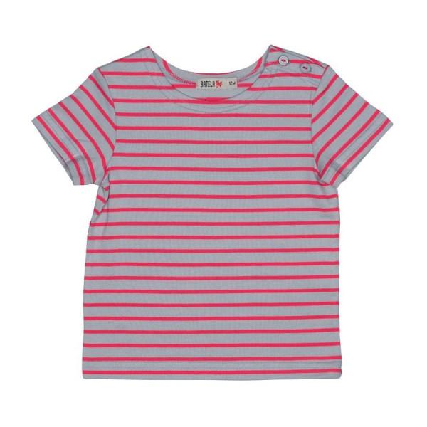 Camiseta marinera Gris/Magenta