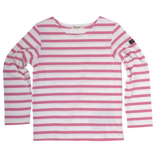 Camiseta marinera Blanco/Rosa