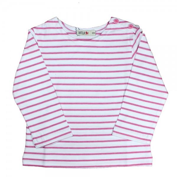 Camiseta marinera bebé Blanco/Rosa