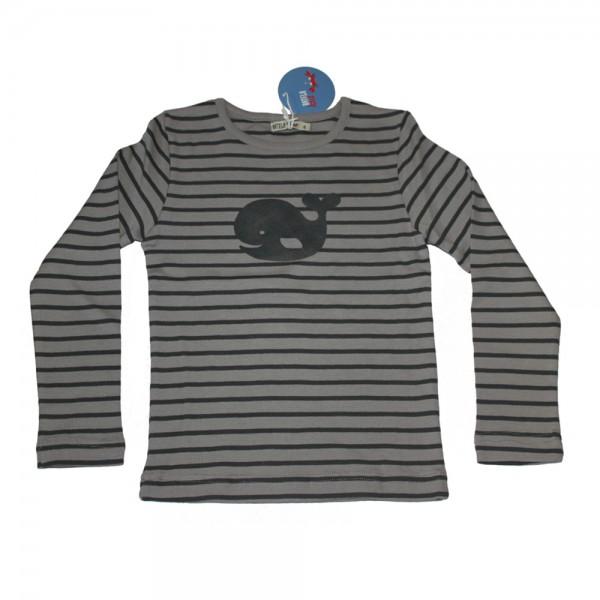 Camiseta ballena rayas Gris/Antracita