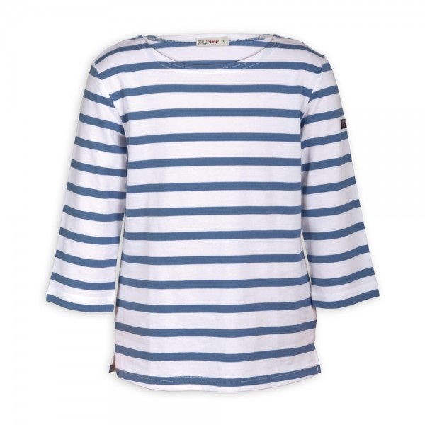 Camiseta marinera Blanco/Jean manga 3/4