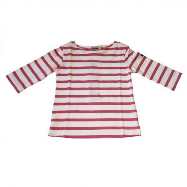 Camiseta marinera Blanco/Rosa manga 3/4