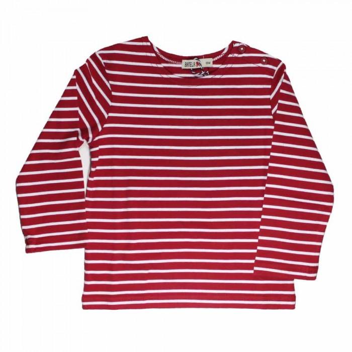 Camiseta marinera bebé cereza/blanco