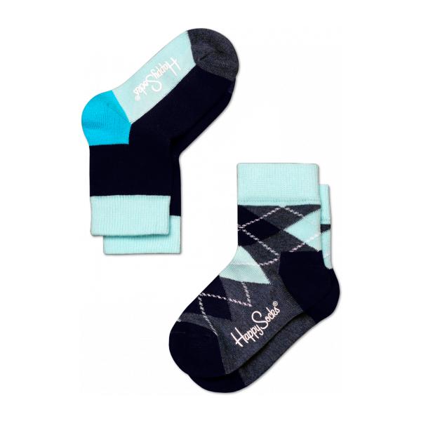 2 pack argyle socks azul marino