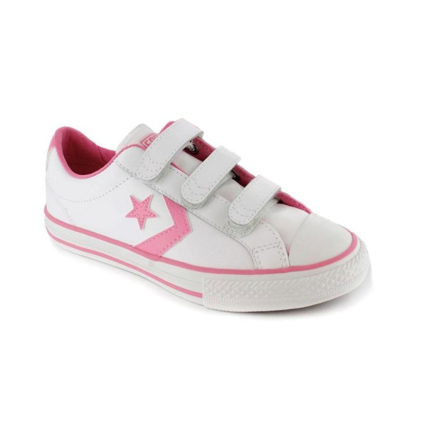 Converse Star Player 3V OX Blanco/Rosa