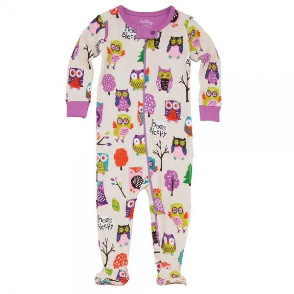 Pijama con pie buhos