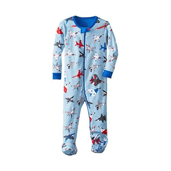 Pijama con pie aviones