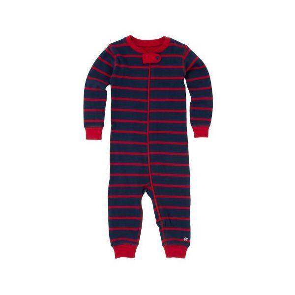 Pijama rayas azul y rojo sin pie