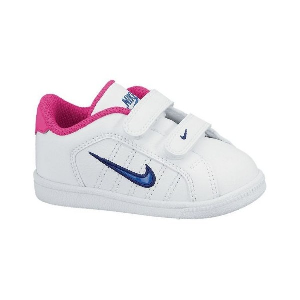 Nike Court Tradition 2 Plus (TDV) Blanco/Azul/Rosa (talla 19.5 a 27)