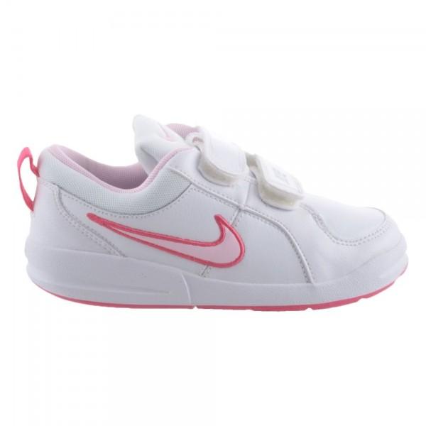 Nike Pico 4 (PSV) Blanco/Rosa (talla 28 a 35)