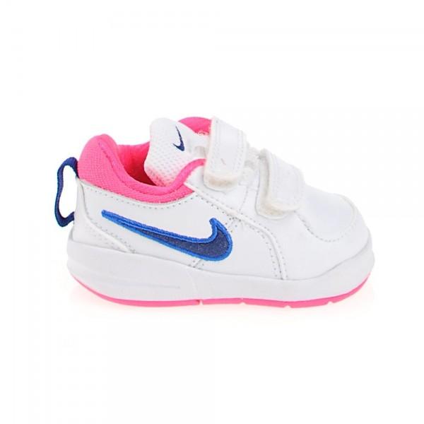 Nike Pico 4 (TDV) Blanco/Azul/Rosa (talla 21 a 27)