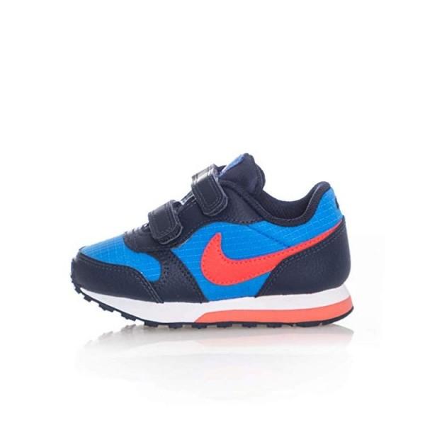 Nike MD Runner Azul/Coral (talla 19.5 a 27)