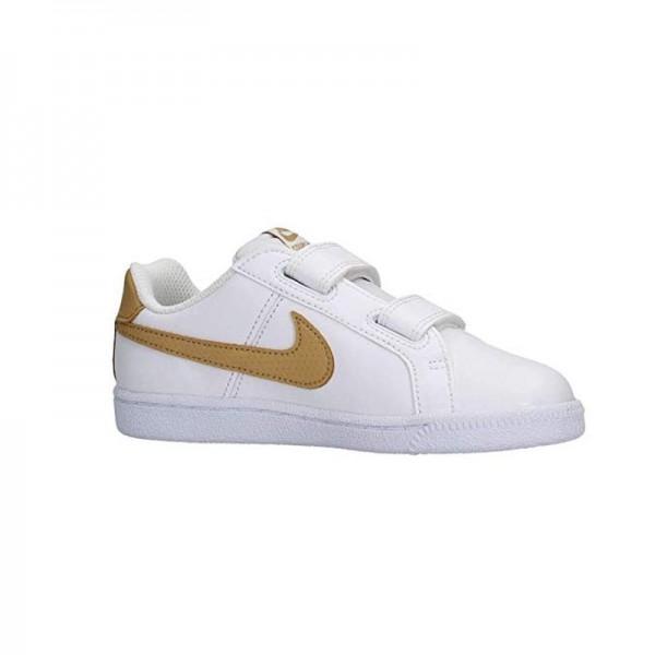 Nike Court Blanco Oro (talla 19.5 a 27)
