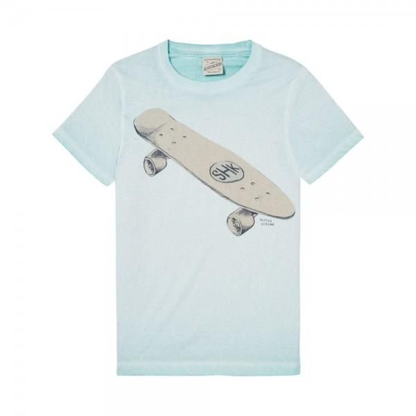 Camiseta con motivo gráfico pintado