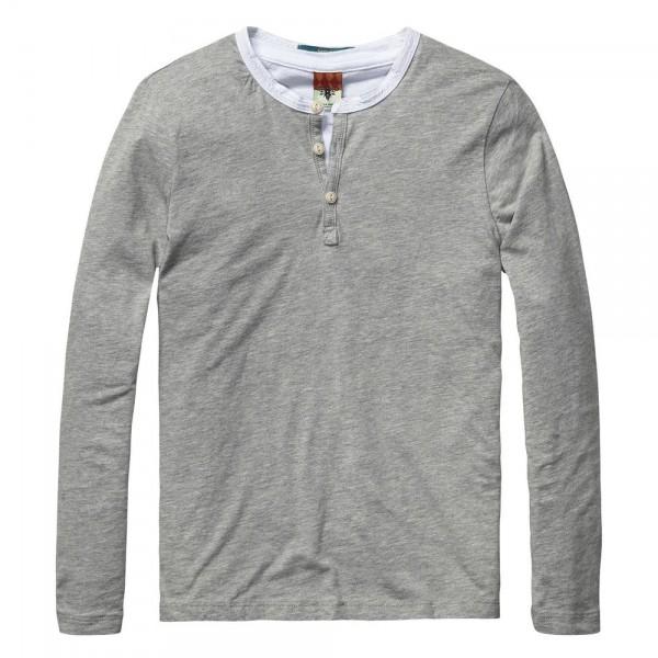 Camiseta de doble capa y cuello granddad