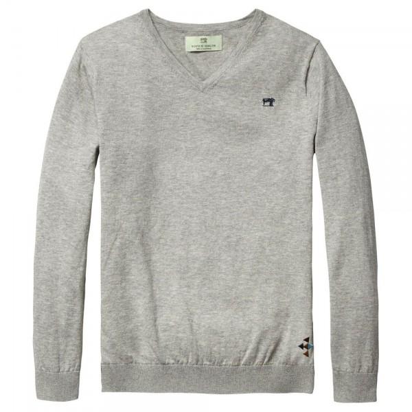 Jersey con cuello de pico gris