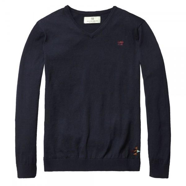 Jersey con cuello de pico marino