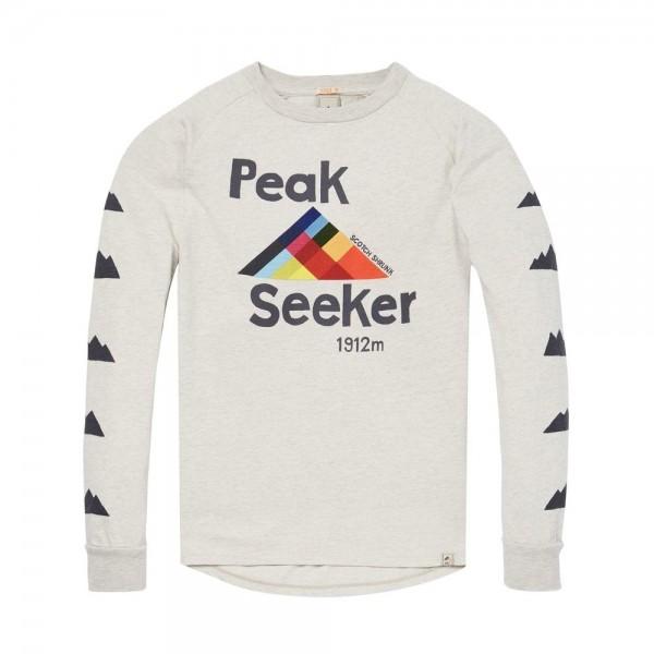 Camiseta con estampado en pecho y mangas