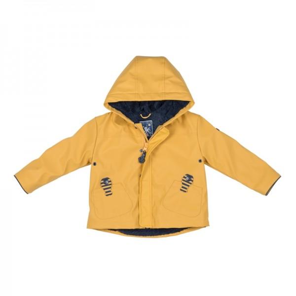 chubasquero bebe amarillo con forro polar