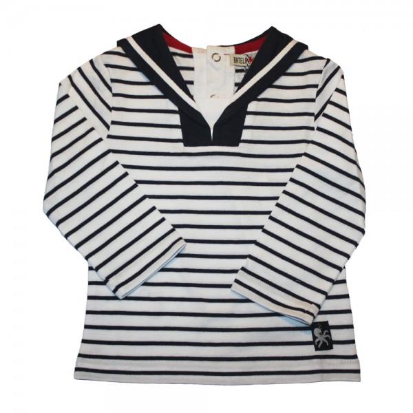 Camiseta bebé cuello marinero Blanco/Marino