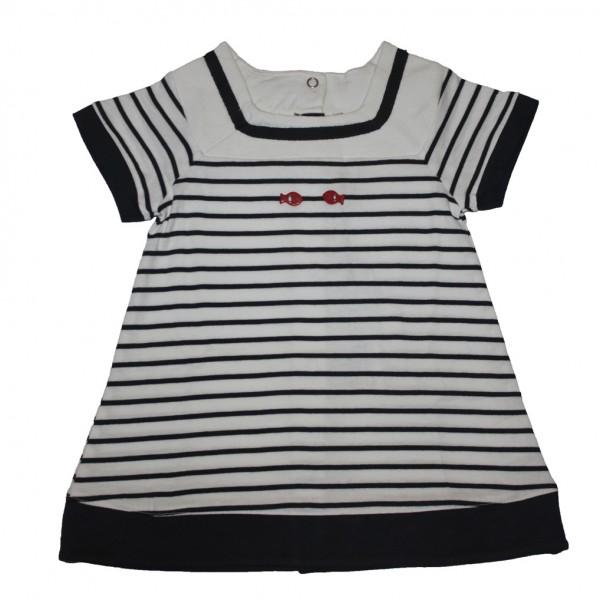Vestido marinero bebé Blanco/Marino