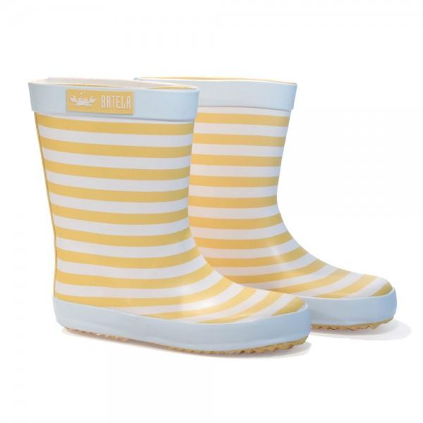 Botas de agua rayas Amarillo