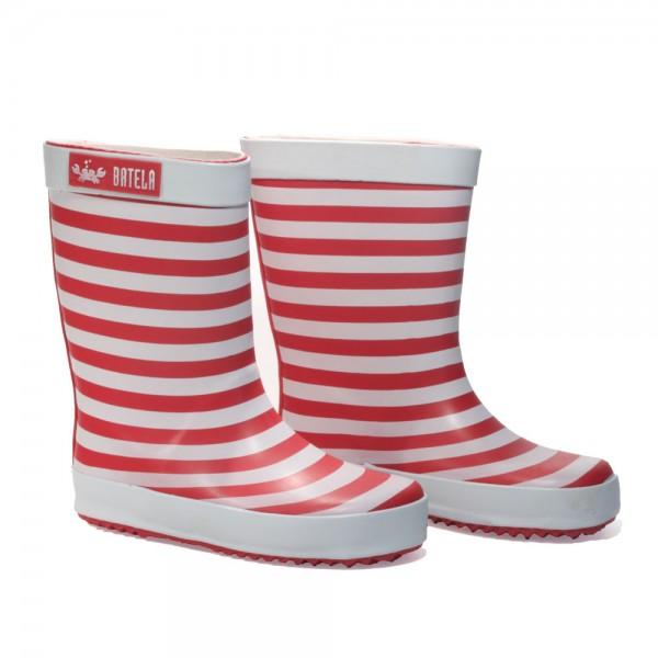 Botas de agua rayas Rojo