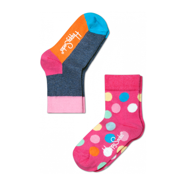 2 pack big dot socks