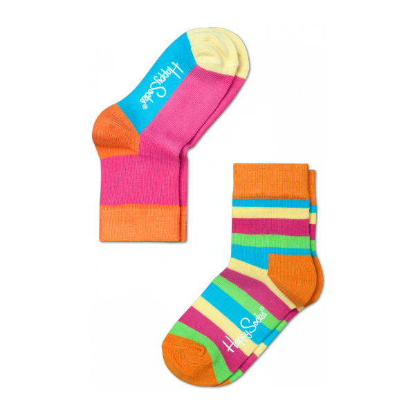 2 pack multi stripe socks