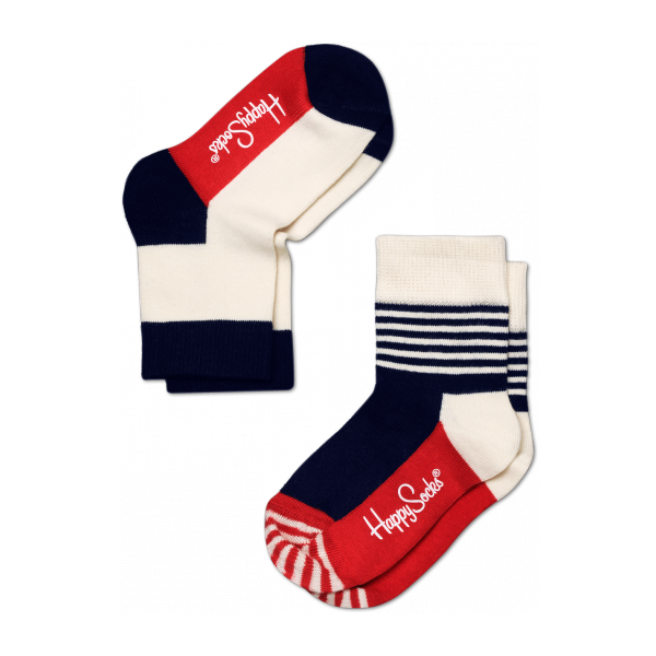 2 pack stripe half socks
